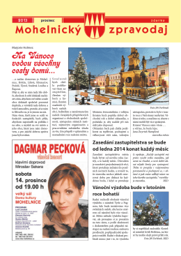 prosinec - Mohelnické kulturní centrum