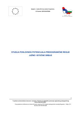 studija poslovnog potencijala prekogranične regije - cbc