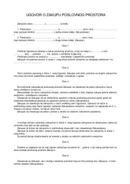 Ugovor o zakupu poslovnog prostora2