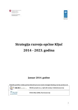 Strategija razvoja općine Ključ 2014 - 2023. godina