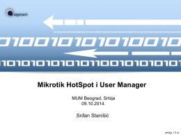 Mikrotik HotSpot i User Manager