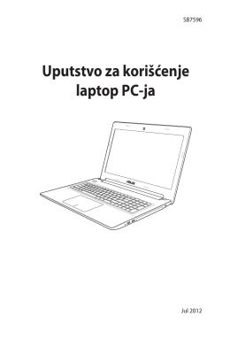 Uputstvo za korišćenje laptop PC-ja