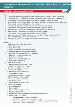 Data Mining u analiziranju poslovnih podataka