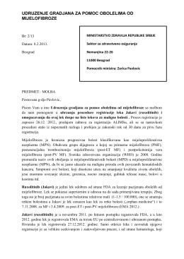 Pismo Min.zdravlja 08.02.2013.
