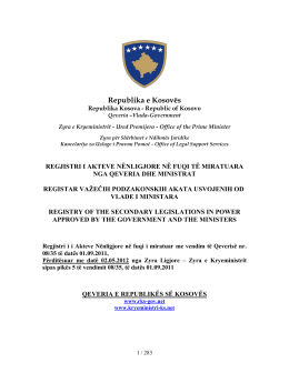 Republika e Kosovës - Ministria e Integrimit Europian