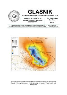 UVOD - Rudarsko geološko građevinski fakultet