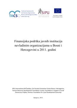 Finansijska podrska javnih institucija nevladinim