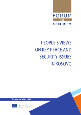 People`s views on key peace and security issues