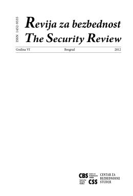 Revija za bezbednost - Centar za bezbednosne studije