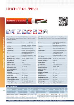 LiHCH FE180/PH90 - Elektrometal Plus