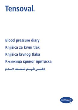 Blood pressure diary Knjižica za krvni tlak Knjižica