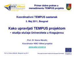 primer dobre prakse - WBC-VMnet