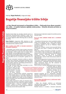 bogatije finansijsko tržište Srbije