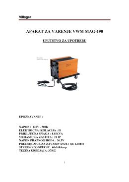 APARAT ZA VARENJE VWM MAG-190 - Oleo-Mac