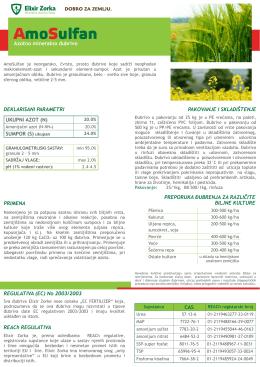 Specifikacija AmoSulfan