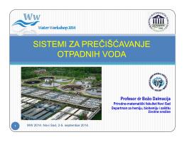 Sistemi za prečišćavanje otpadnih voda, dr Božo Dalmacija