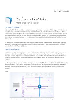 Platforma FileMaker – Které produkty si koupit