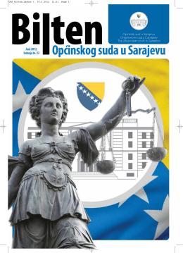 Goran Salihović, predsjednik Općinskog suda u Sarajevu, primio u
