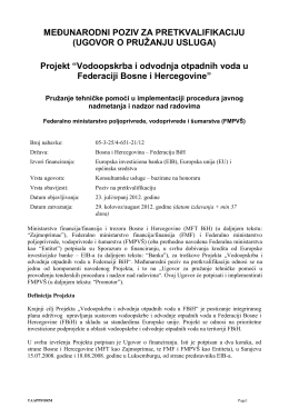 Bijeljina Wastewater Treatment Plant Project