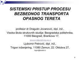 Dragutin Jovanović - Udruženje za bezbednost saobraćaja
