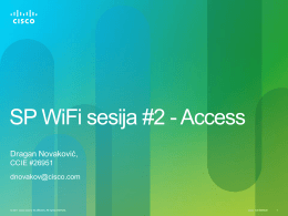 SP WiFi sesija #2 - Access