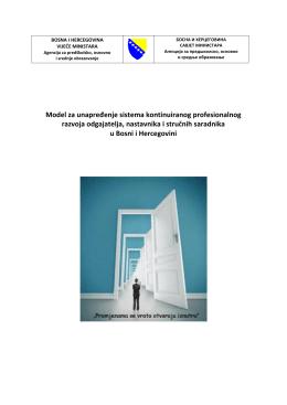 Model CPD odgajatelja, nastavnika i stručnih saradnika u