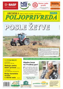 Sremska poljoprivreda broj 20 26. jul 2013.