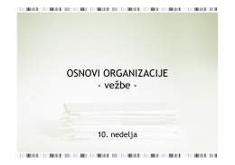 Vežbe 10: Mehanizacija i automatizacija