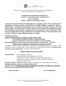 pdf dokument ponude - Turistički Klaster Srem