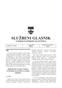 Sluzbeni glasnici 6 - Vlada Unsko