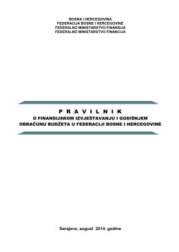 P  R  A  V  I  L  N  IK - Federalno Ministarstvo Finansija