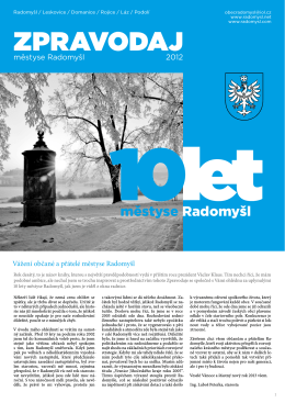 Zpravodaj - Radomyšl