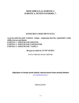 2013.- POZIV – Konkur. dok. – osiguranje 27.06.