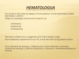 HEMATOLOGIJA - WordPress.com
