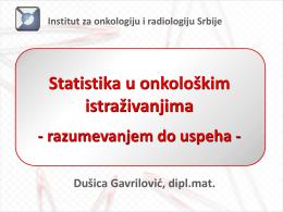 Statistika u onkološkim istraživanjima (in Serbian)