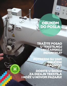 moduli i detalji obuke - Škola za dizajn tekstila i kože