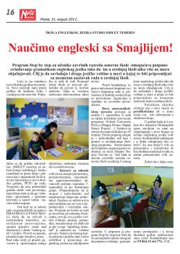Naučimo engleski sa Smajlijem!
