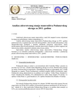 Podunavski okrug - Zavod za javno zdravlje Požarevac