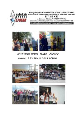 Pregled ARG aktivnosti radio kluba u 2013