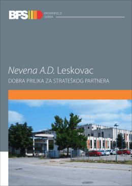 Nevena a.d. Leskovac - strateško partnerstvo