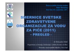 Smernice svetske zdravstvene organizacije za vodu za piće