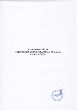 Godišnji izveštaj 2013