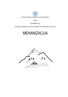 mehanizacija - Development Assistance to Farmers In Remote