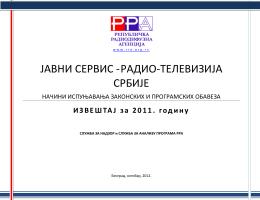 Izveštaj o ispunjavanju zakonskih i programskih obaveza Radio