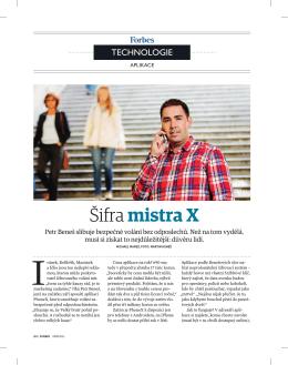 Článek Šifra mistra X (Forbes 09/2013)