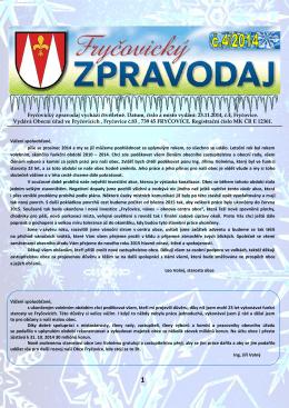 Fryčovický zpravodaj č.4 2014