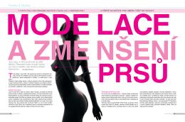 Modelace a změnšení prsou