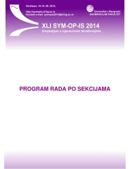 Detaljni program rada možete preuzeti u PDF - SYM-OP