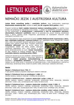 NEMAČKI JEZIK I AUSTRIJSKA KULTURA