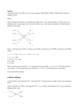 račun smeše - matematika